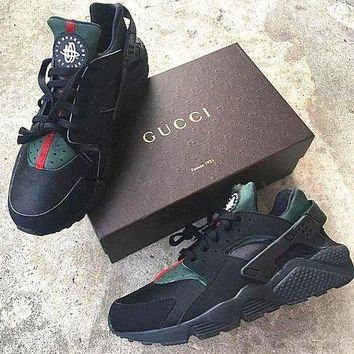 a76a17eb94782 NIKE Custom Gucci Huaraches Women Breathable Running Sport Sneakers Shoes