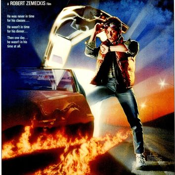 """Michael J. Fox Signed Autographed """"Back to the Future"""" 11x17 Movie Poster (JSA COA)"""