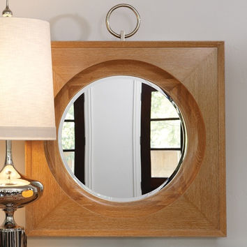 French Ring Mirror - Light Wood