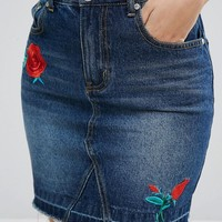 PrettyLittleThing Applique Patch Mini Skirt at asos.com