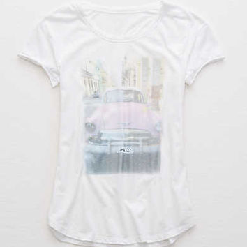 Aerie Real Soft® Graphic Tee, Air White