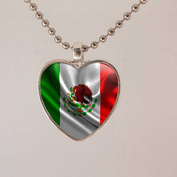 I <3 My Country Necklace - unique custom gift, cool, stocking stuffer, great britain, mexican, isreal, canada, norway, israel