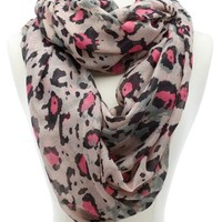 COLORFUL LEOPARD PRITN INFINITY SCARF