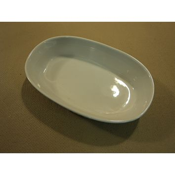 Corning Ware Stoneware Oval Dish 15-oz French White -- Used