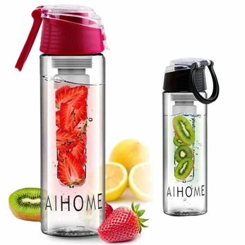 Water bottle with fruit infuser 800ml.
