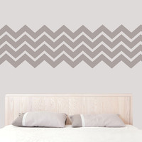 Wall Decal Vinyl Sticker Decals Art Decor Design Set Chevron Stripes Mural Pattern Damask Geometric Bedroom Nursery Kids Dorm (r320)