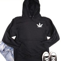 Subtle Leaf  - Women's CannaHoodie - Multiple Colors Available