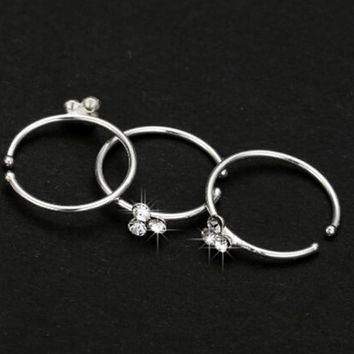 Nose Rings Piercing Fake Septum Nose Ring Stud Crystal Piercing Nombril Indian Nose Ring Body Jewelry Fake Piercing De Nariz 15
