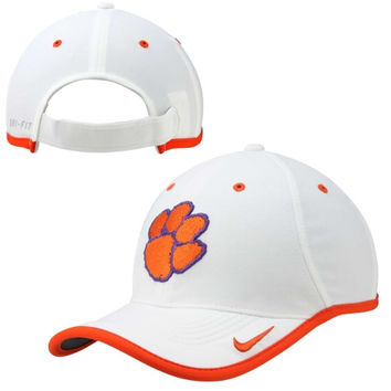 Clemson Tigers Nike 2014 Coaches Performance Adjustable Hat – White