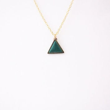 Geometric triangle necklace. Minimalistic necklace.  Fashion necklace