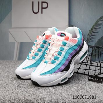 DCCK N684 Nike X Foot Locker Off White Air Max 95 Running Shoes White Blue Purple