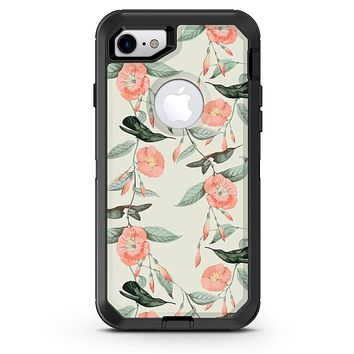The Coral Flower and Hummingbird on Branches - iPhone 7 or 8 OtterBox Case & Skin Kits