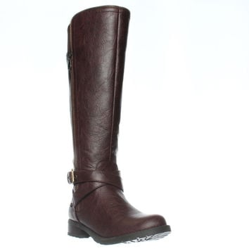 G by Guess Halsey Knee-High Riding Boots - Dark Brown