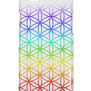 Chakra Flower of Life on White iPhone 6 Plus Plastic Case All Over Print