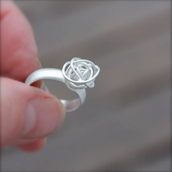 Tumbleweed Sterling Silver Ring Handmade Silver by KittyStoykovich