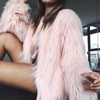 Emilie Fluffy Fur Coat
