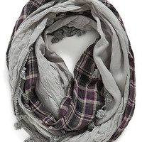 Women's Jules Smith Plaid Infinity Scarf