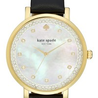 kate spade new york 'monterrey' leather strap watch, 38mm | Nordstrom