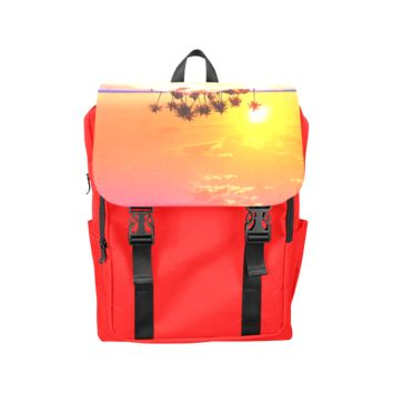 Wonderful Sunset In Soft Colors Back Pack Casual Shoulders Backpack