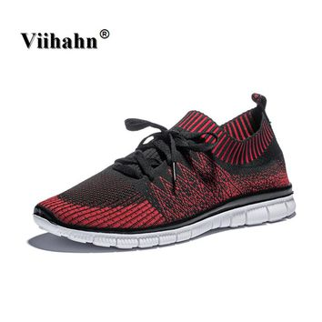 Mens Running Shoes Lightweight Sports Shoes Summer Breathable Jogging Sneakers For Man Outdoor Flat Walking Trend Shoes Size 47