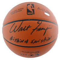 Walt Frazier New York Knicks Steiner Sports Autographed Spalding Indoor Outdoor Basketball with Dishin & Swishin Inscription