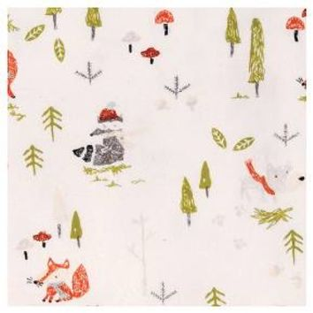 Trend Lab Deluxe Flannel Fitted Crib Sheet - Winter Woods