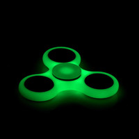 HOT Lighting White Tri-Spinner Fidget Toy ABS Plastic EDC Hand Spinner For Autism and ADHD Rotation Long Time Stress Relief Toys
