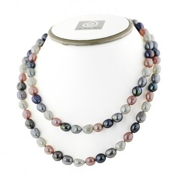 Honora Pink Tuxedo Freshwater Pearl 36 Inch Necklace