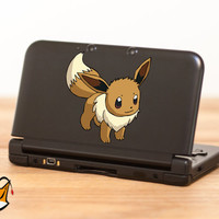 Eevee Pokemon decal sticker for Nintendo 3DS XL, 3DS, MacBook and all other devices! ma076