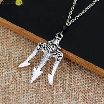 2016  a Lot Percy Jackson The Olympians The Sea of Percy Jackson Necklace Poseidon Necklace For Men And Women