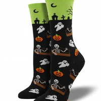 Shop Undead Friends Novelty Womens Socks - Halloween Socks | Socksmith