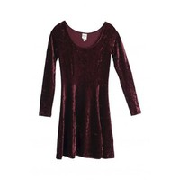 Monki Naomi Dress Velvet Fig