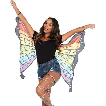 Rainbow Butterfly Rave Mini Cape