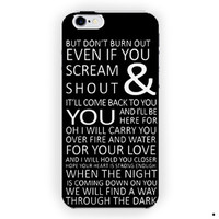 1D One Direction Lyrics Music For iPhone 6 / 6 Plus Case