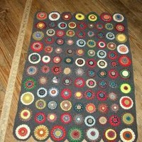 CUSTOM MADE TO ORDER 100PERCENT UPCYCLED WOOL PENNY RUG by jaja8