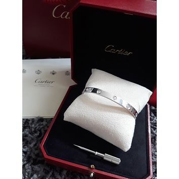 CARTIER Love Bangle Bracelet 10 Diamonds - 100% Authentic & Genuine - Size 19