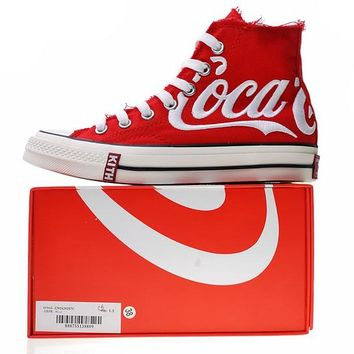 "KITH x Coca-Cola x Converse Chuck Taylor All Star 1970s ""Whtie&Red"" Sneaker 1620287C"