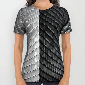 High Structure All Over Print Shirt by Claude Gariepy