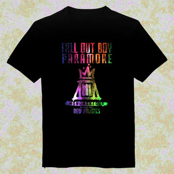 fall out boy paramore T shirt clothing for women and men