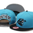 Carolina Panthers New Era 9FIFTY Sideline Black Bill Snap Back Hat