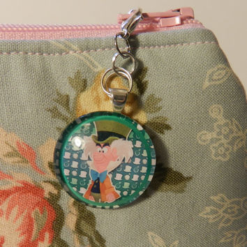 The Mad Hatter  Zipper pull Purse Pull Hoodie Pull Back Pack Pull  V4744