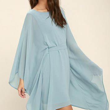 Heavenly Being Light Blue Kaftan Dress
