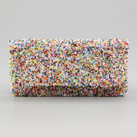 Multicolor Beaded Clutch Bag