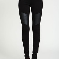 Leatherette Moto Zip Skinny Jeggings - LoveCulture