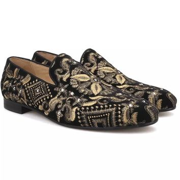 27aed857c1a1e Best Black And Gold Loafers Products on Wanelo