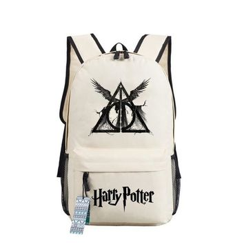 Student Backpack Children Fashion Harry Potter Hogwarts Backpack men women Children book Bag Students School Bags Travel Shoulder Bag for teenagers AT_49_3