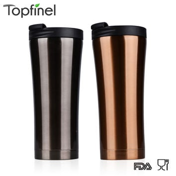 500ml stainless steel auto cup small thermos Vacuum Thermo flask termica bottle travel coffee  mug mini hot cold water garrafa