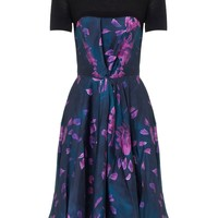 Mauve Floral Silk Twist Dress | Calla | Avenue32