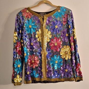 Women's Vintage Sequin Jacket by Joseph LeBon