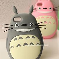 NEW 3D Cartoon Totoro Cat Soft Silicone Case cover for Apple iphone 6S plus 5S